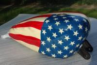 Réservoir Harley-Davidson personnalisation drapeau américain