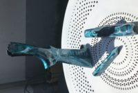 Fusil Ball trap Beretta effet marbré bleu turquoise et fumée